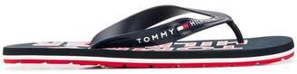 Tommy Hilfiger logo print flip flops