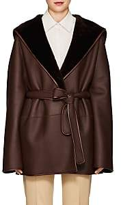 The Row Women's Sternley Shearling Coat - Dark Brown