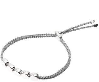 Monica Vinader Silver Linear Bead Friendship Bracelet