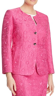 Marina Rinaldi Carmen Floral Cloqué Jacket $530 thestylecure.com