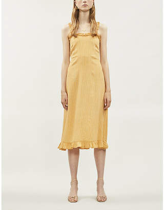 Faithfull The Brand Noemie checked rayon dress