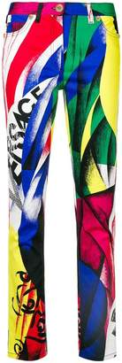 Versace printed logo trousers