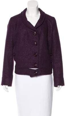 Versace Alpaca-Blend Short Coat