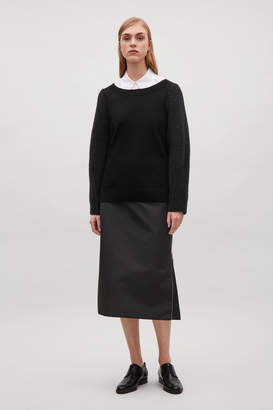 Cos MERINO JUMPER WITH CONTRAST SLEEVES
