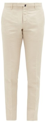 Incotex 1951 Slim Leg Stretch Cotton Chino Trousers - Mens - Beige