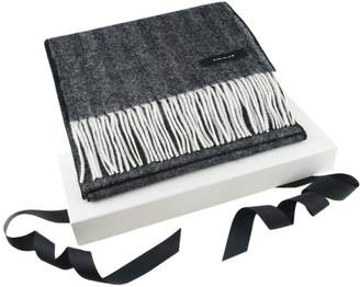 Black Corporate Branded Cashmere and Lambswool City Scarf