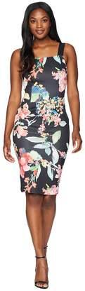 Adrianna Papell Garden Fiesta Printed Sheath Dress Women's Dress