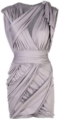 Balmain draped mini dress