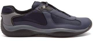 Prada America's Cup Low Top Mesh Panelled Trainers - Mens - Navy