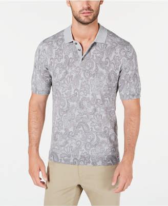 Tasso Elba Men Paisley Supima Cotton Polo Shirt