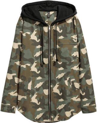 H&M Hooded Shirt - Beige