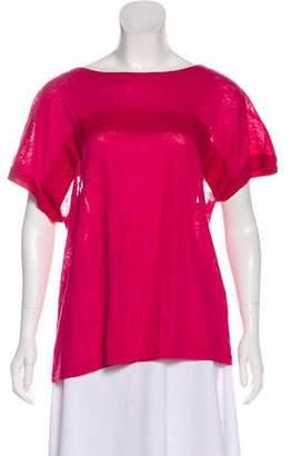 Chloé Linen Short Sleeve Top