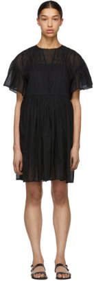 Etoile Isabel Marant Black Annaelle Mini Dress