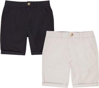 River Island Boys Navy and grey chino shorts multipack