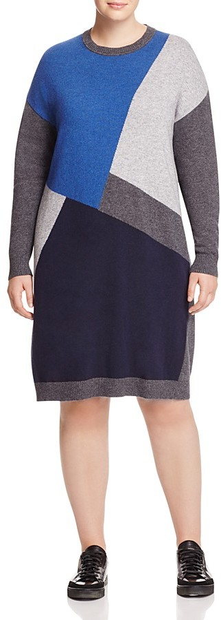 Marina Rinaldi Gardone Knit Color Block Dress
