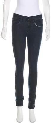 Armani Exchange Mid-Rise Colorblock Jeans