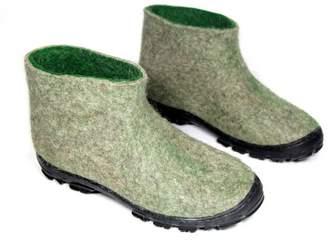 """Felt Forma Men's Organic Wool Boots """"Moss Green"""""""