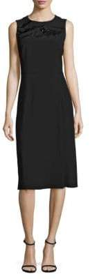 HUGO BOSS Deffy Beaded Crepe Dress
