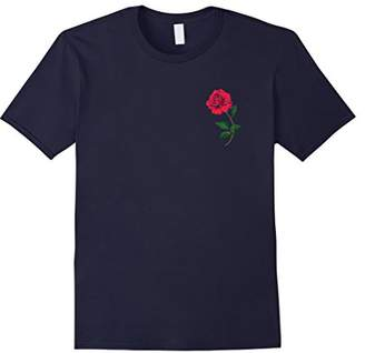 CaliDesign Rose Chest Print T shirt urban Hipster Rap Tee