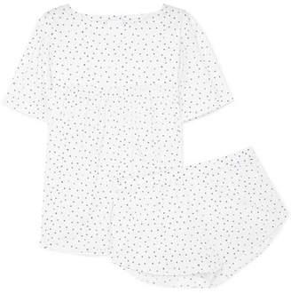 Three J NYC Anna Printed Cotton-poplin Pajama Set - White