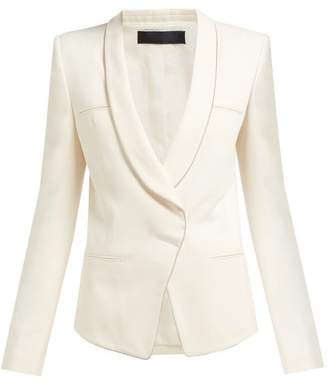 Haider Ackermann Single Breasted Crepe Blazer - Womens - Cream