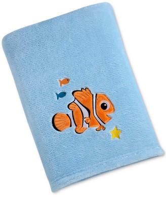 Disney Finding Nemo Embroidered Applique Plush Blanket Bedding