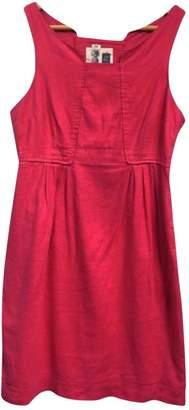 Anthropologie Pink Linen Dress for Women