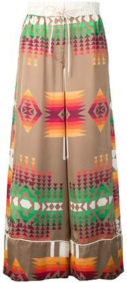 Sacai geometric print trousers