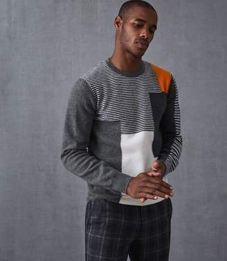 Reiss Penfield Colour Blocked Jumper