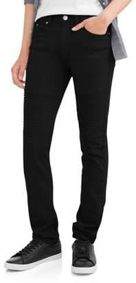 SEVEN SOULS Men's Twill 5 Pocket Pants with Moto Detail