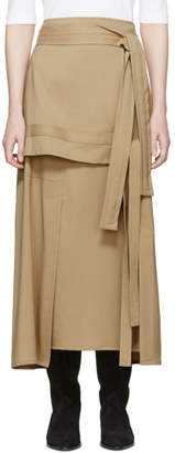 3.1 Phillip Lim Beige Wool Patchwork Skirt