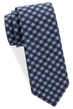 Saks Fifth Avenue Gingham Cotton Tie