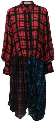 Preen Line plaid relaxed shirt dress