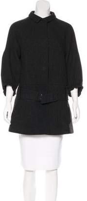 Prada Belted Virgin Wool Jacket