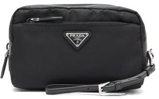 Prada Leather And Nylon Wash Bag - Womens - Black