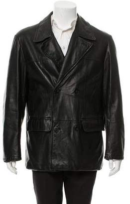 Giorgio Armani Lambskin Leather Jacket