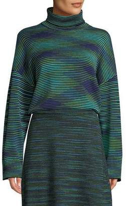 M Missoni Chunky Space-Dyed Turtleneck Sweater