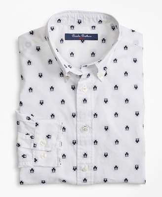 Brooks Brothers Boys Cotton Bug Embroidered Sport Shirt