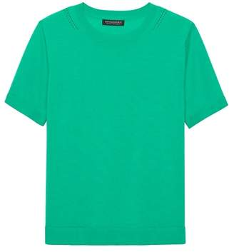 Banana Republic Machine-Washable Merino Short-Sleeve Crew
