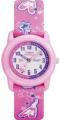 Timex Easy Reader Kids Pink Fabric Strap Watch T7B1519J