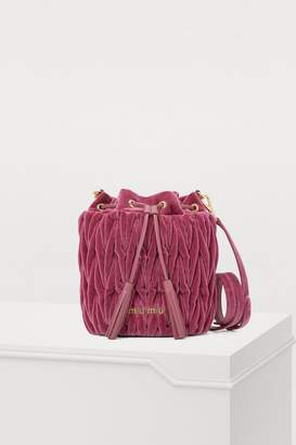 Miu Miu Velvet bucket bag