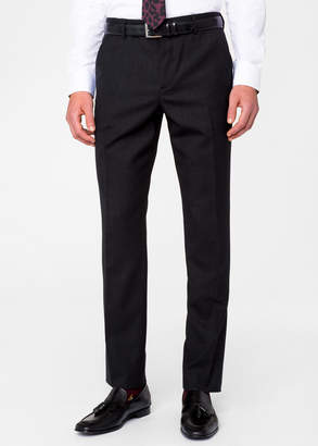 Paul Smith Men's Slim-Fit Charcoal Grey Wool 'A Suit To Travel In' Pants