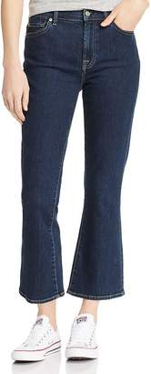 7 For All Mankind High-Rise Slim-Kick Jeans in B(air) Authentic Fate Rinsed
