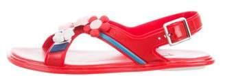 Prada Jelly Embellished Sandals