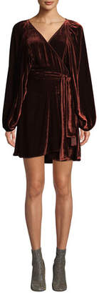 A.L.C. Carlo Velvet Long-Sleeve Wrap Dress