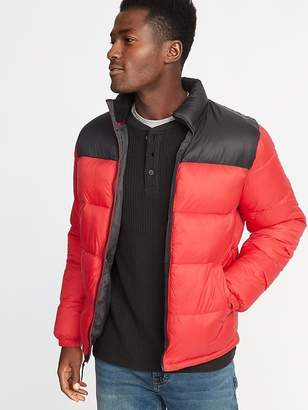 Old Navy Quilted Frost-Free Color-Block Nylon Jacket for Men