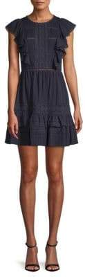 Rebecca Taylor Ruffled Cotton Gauze Dress