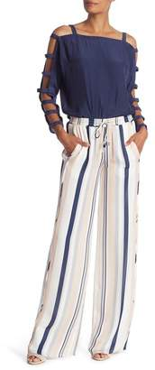Ramy Brook Dorota Striped Silk Pants