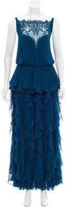 Elie Saab Tiered Evening Dress