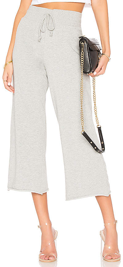 Spiritual Gangster Hear Peace Crop Wide Leg Pant